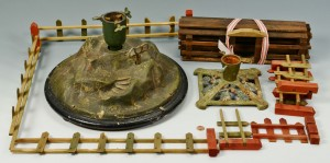 Lot 596: Early Christmas Tree Stand Related, One Musical