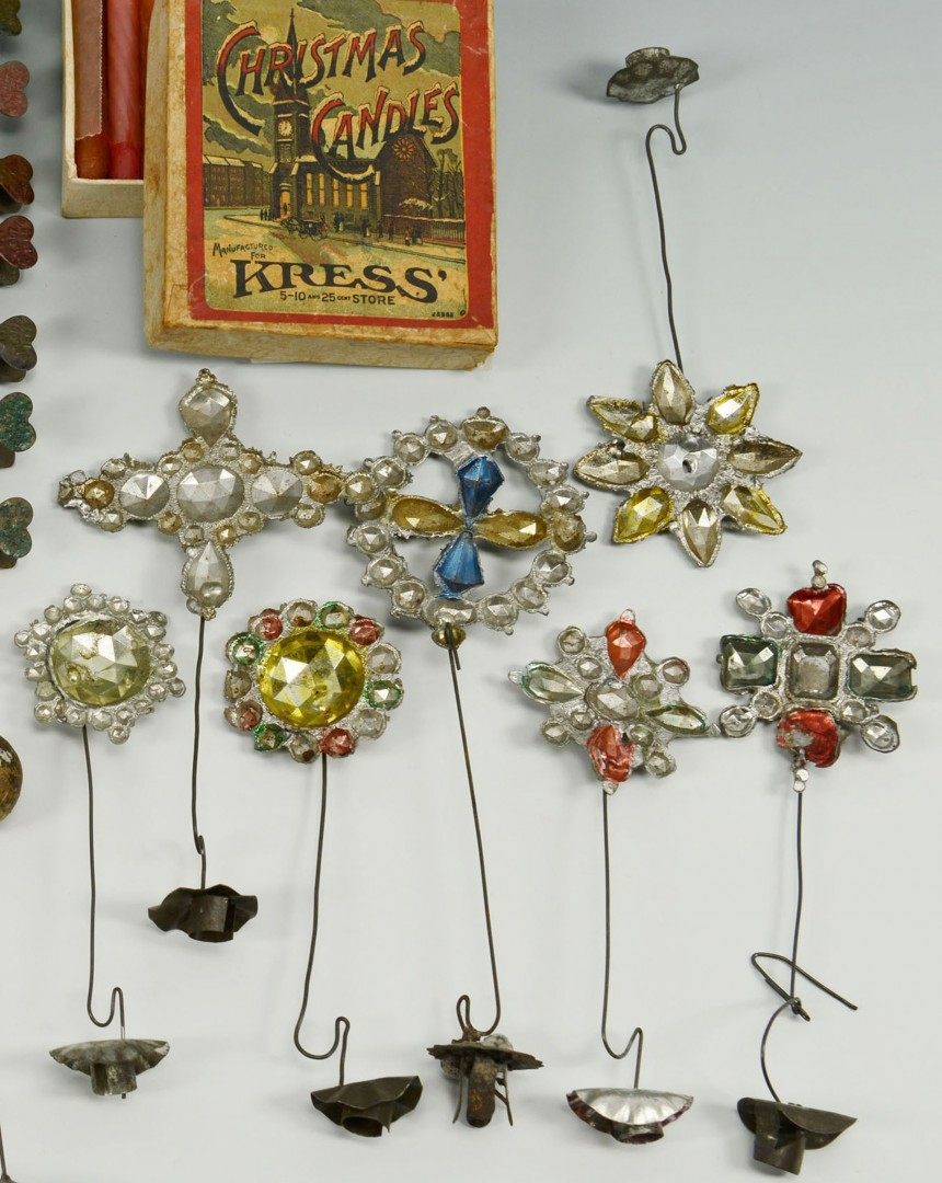 Lot 597: Christmas candle holders reflectors and weights