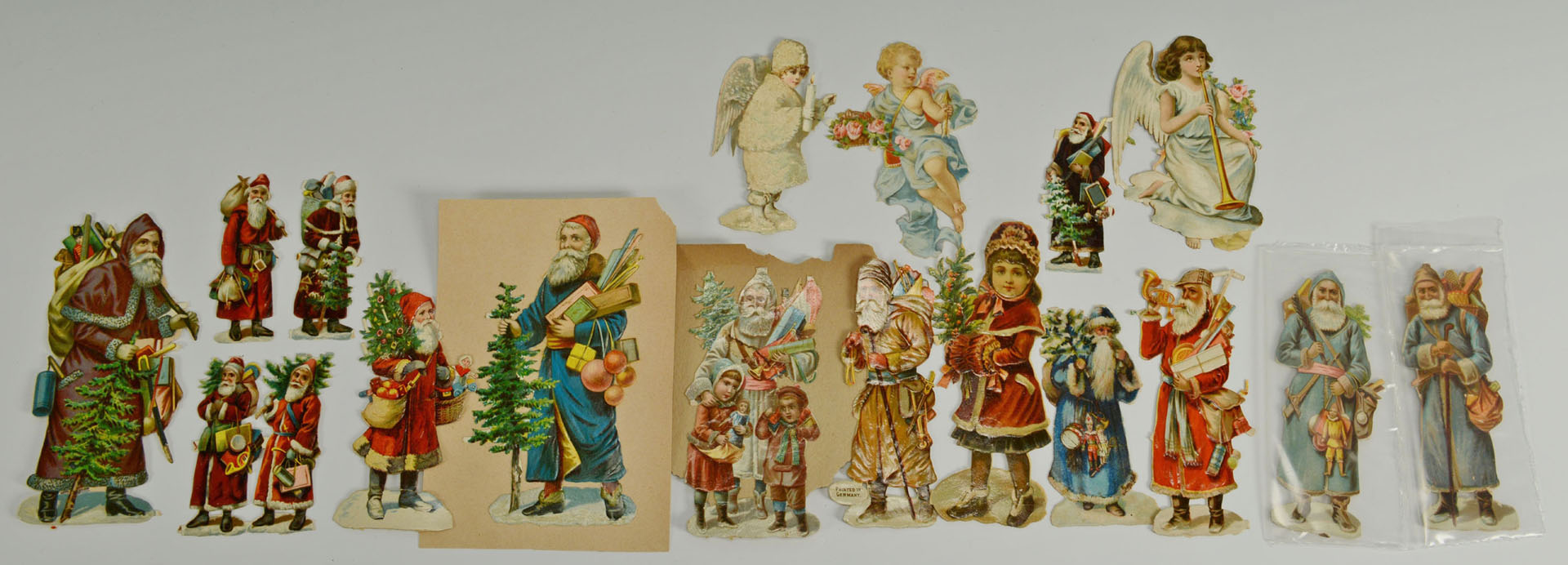 Lot 599: Early German glass Christmas ornaments, other