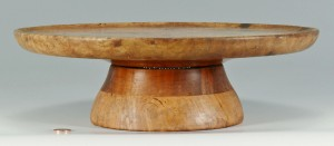 Lot 59: Burlwood Lazy Susan