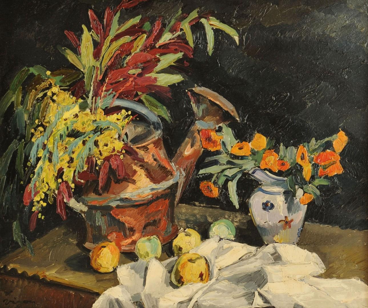 """""""Vigon"""" Floral Still Life, 20th century"""