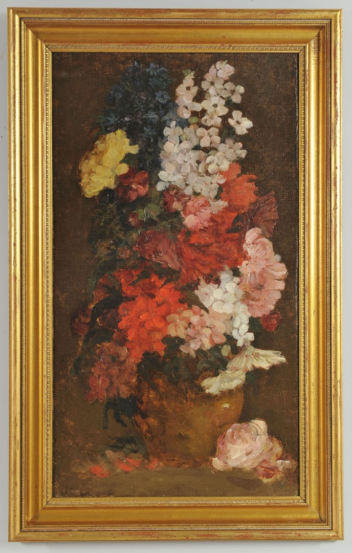 Jean Seignemartin Floral Still Life oil on canvas