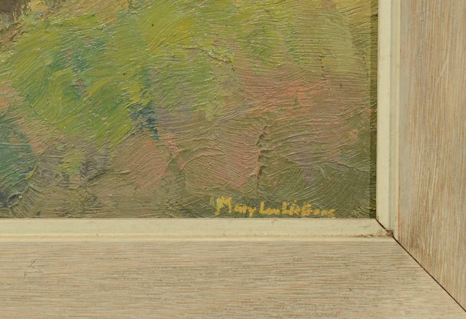 Lot 602: 3 Impressionist Painted Landscapes