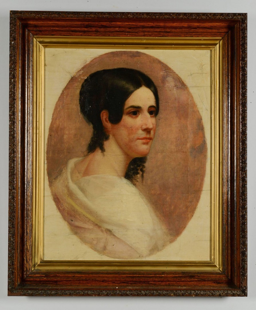 19th c. American School Portrait of a Lady