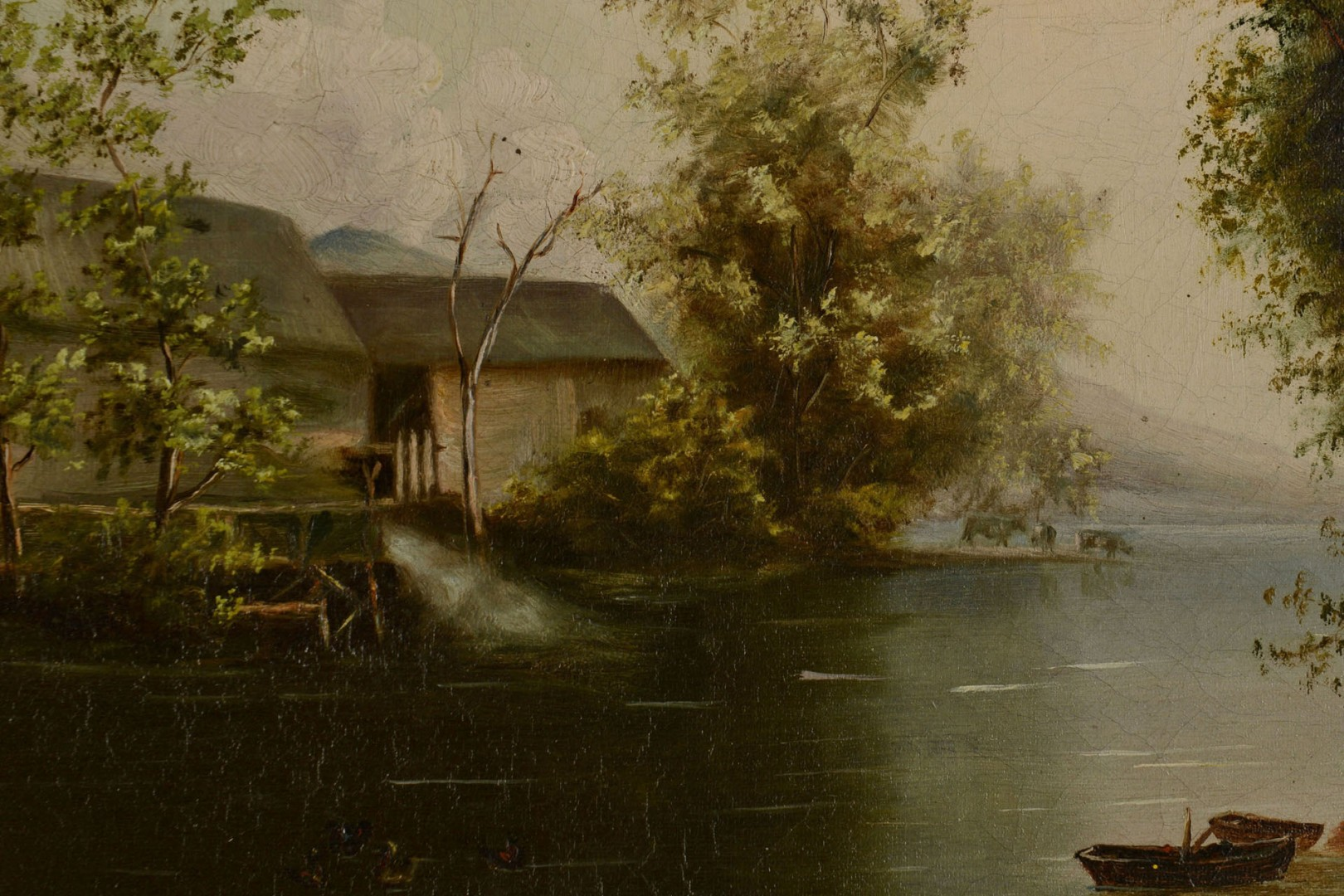 19th C. Oil on Canvas, Knox County Scene