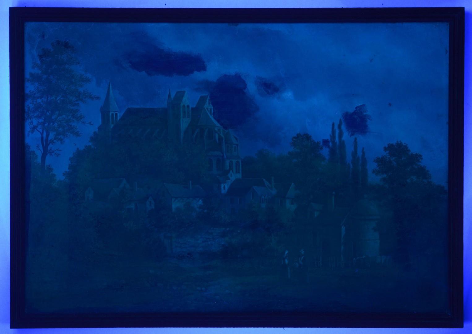 19th Cent. Oil on Canvas European Village Scene