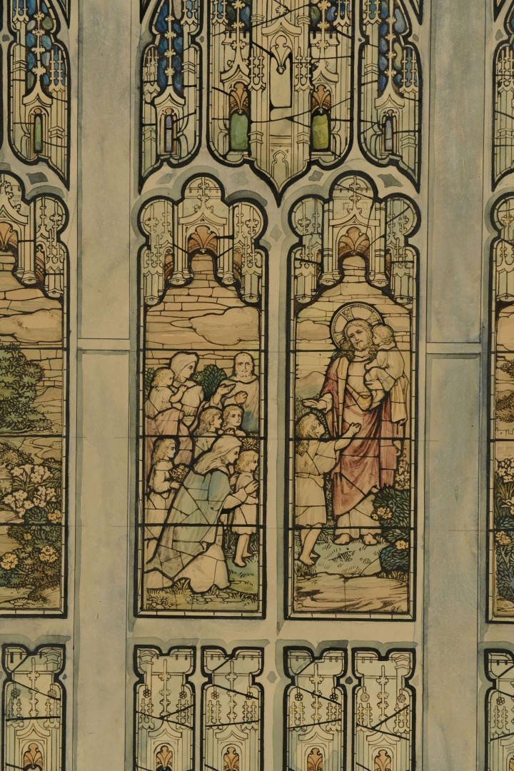 Lot 612: Design for a Stained Glass Window Watercolor
