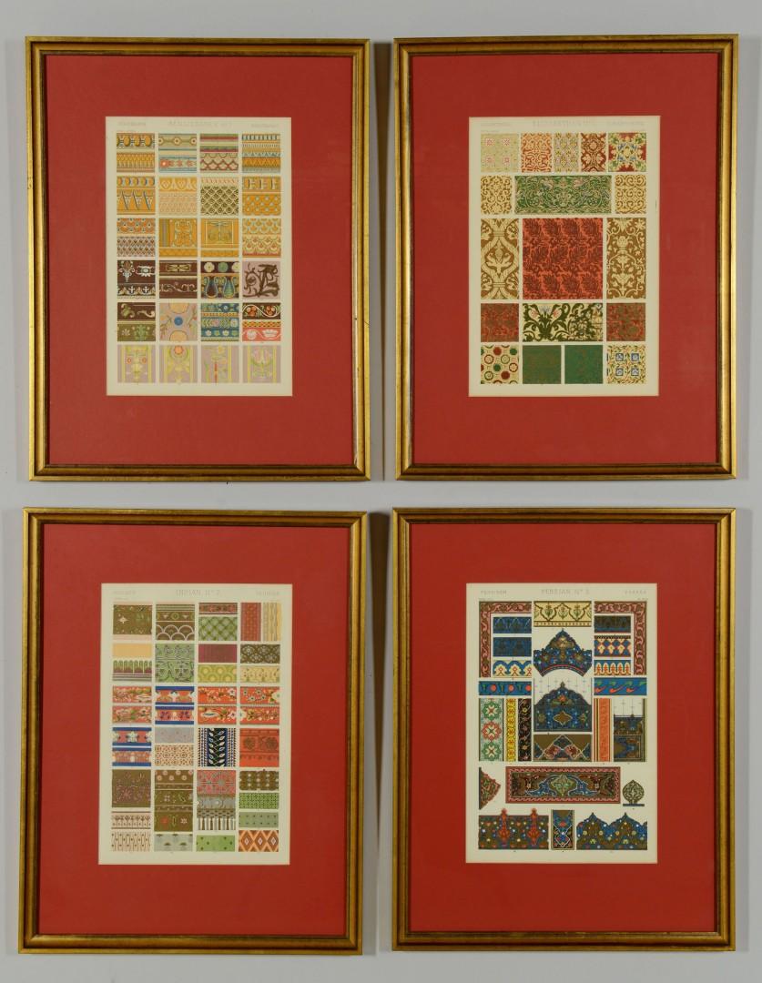 "4 Chromolithographs, Owen Jones ""Grammar of Ornament"""