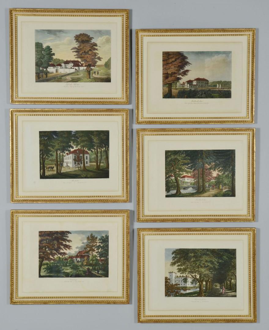Set 6 Engravings of Swedish Castles