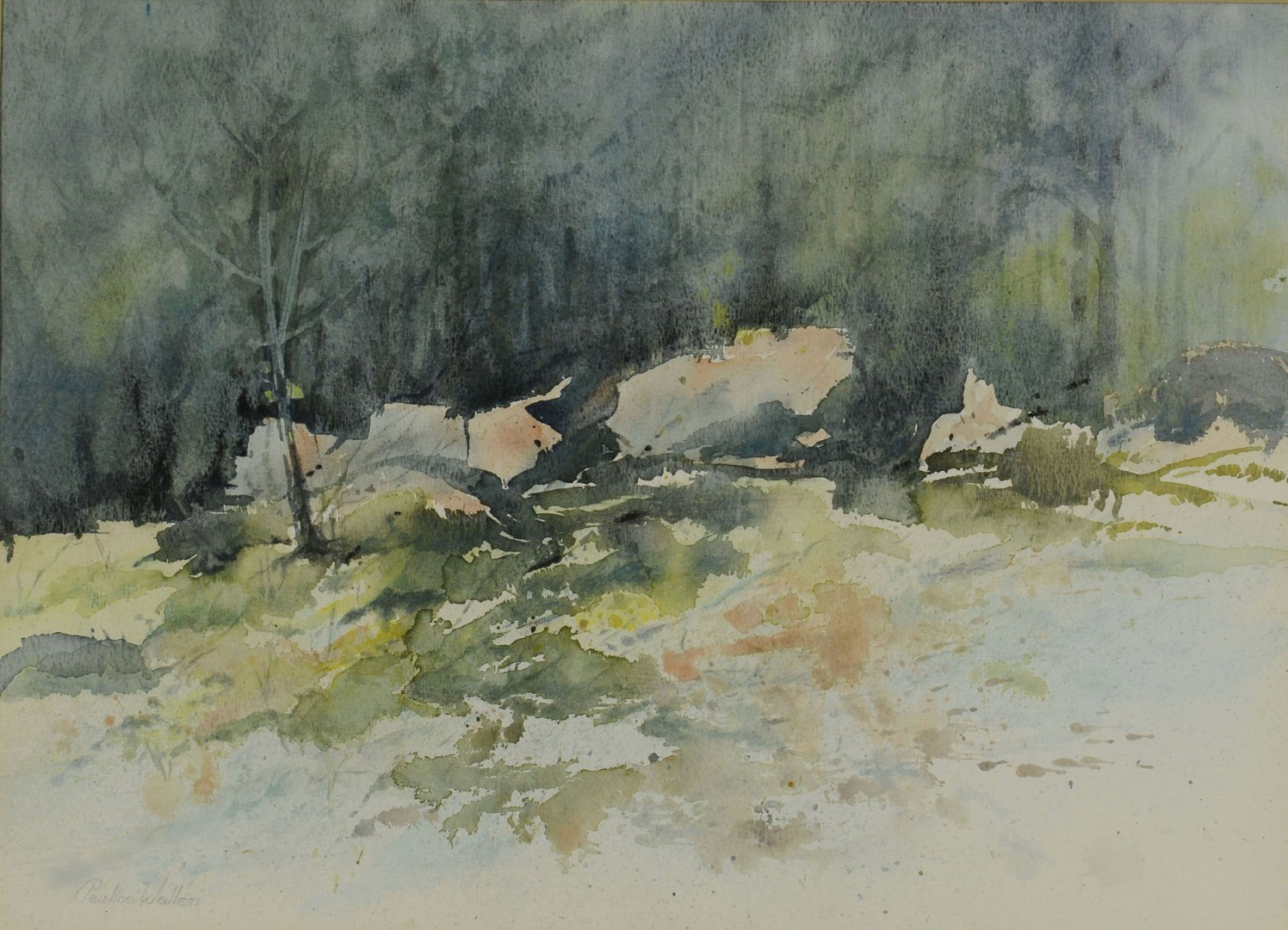 Lot 615: Pauline Wallen Watercolor Landscape