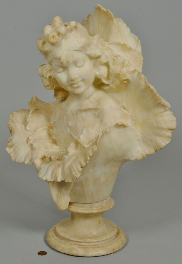 Lot 619: Large alabaster bust of a Child