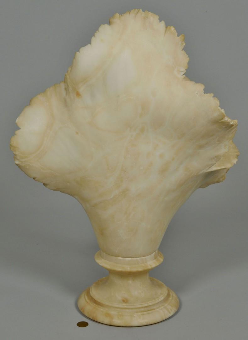 Lot 619: Large alabaster bust of a Child