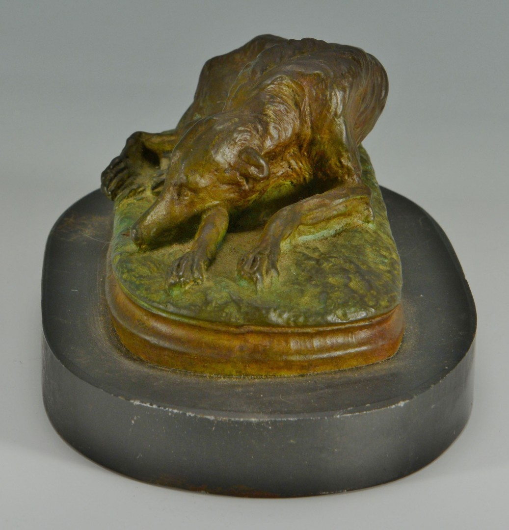 Gayrard Bronze sculpture of a dog