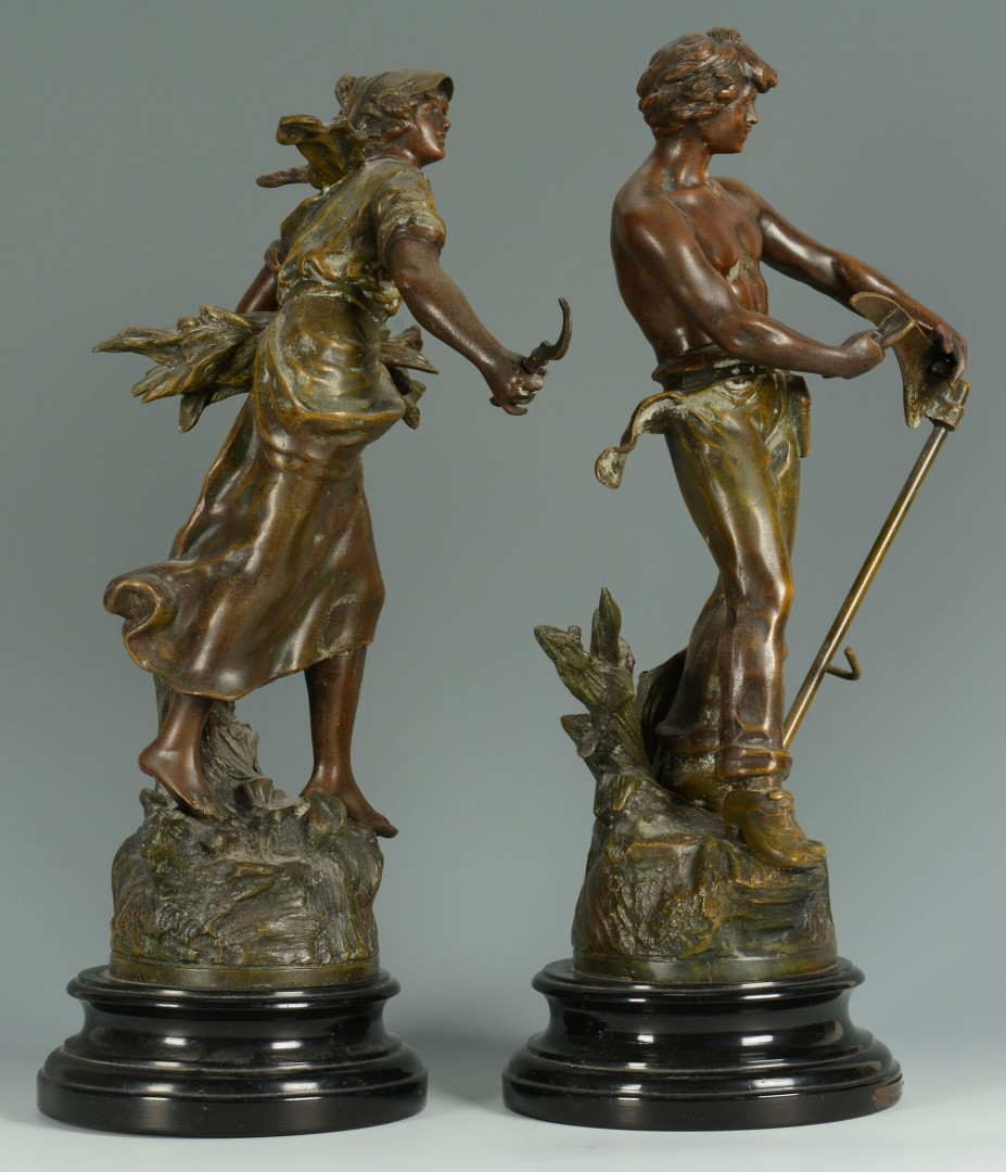 Lot 621: Pair French Bronzed Figures after Moreau