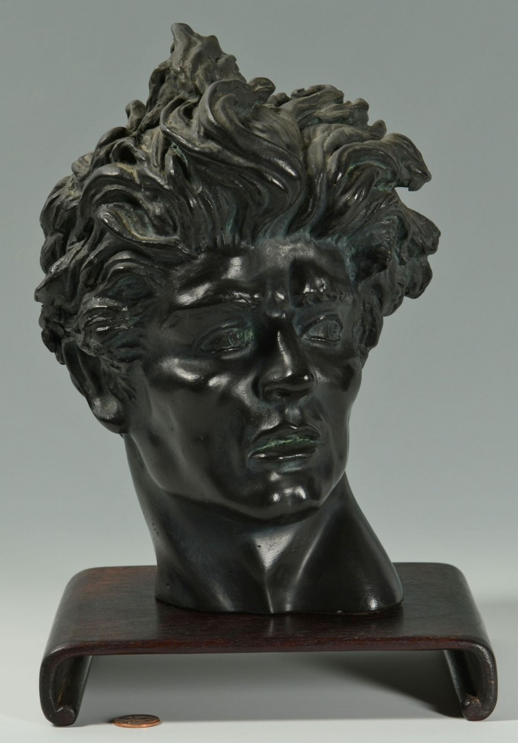 Lot 622: Painted Plaster Head Sculpture, after Melcarth