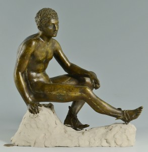 Lot 623: Bronze Sculpture of Hermes, Sommer Artistic Foundr
