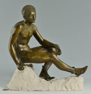 Lot 623: Bronze Sculpture of Hermes, Sommer Artistic Foundr