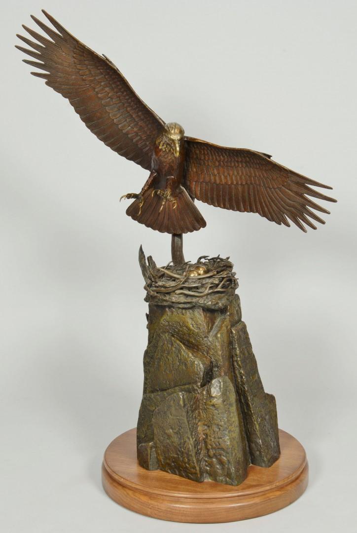 Lot 624: Stan Bentall Bronze Eagle Sculpture