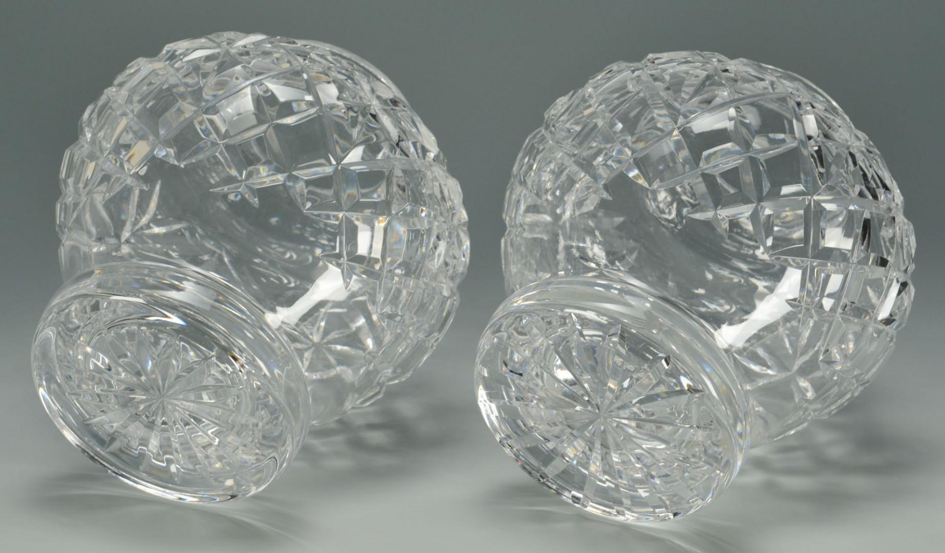 Lot 625: Pair Waterford Lismore Crystal Jars & Clock