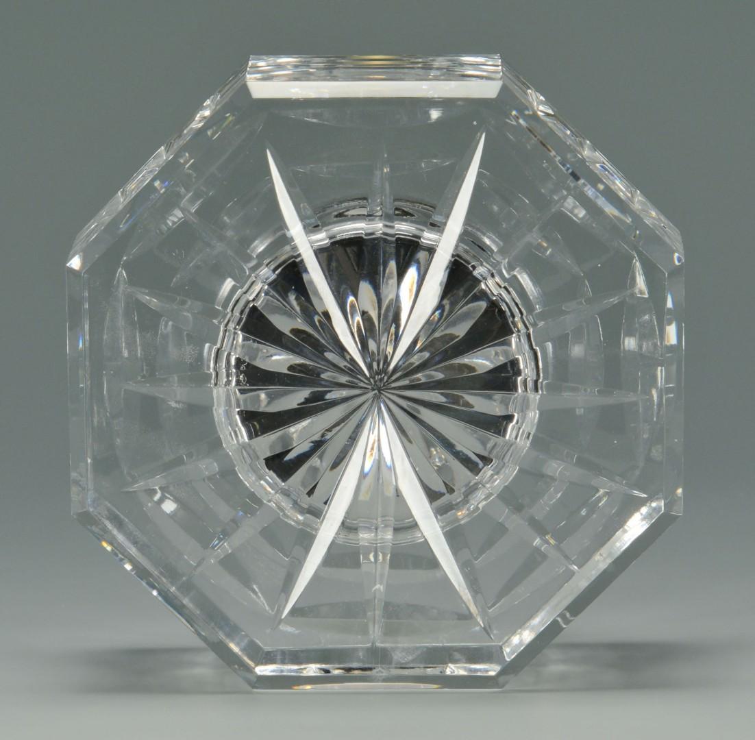 Pair Waterford Lismore Crystal Jars & Clock