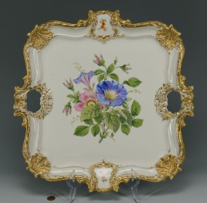 Lot 629: Square Meissen Porcelain Platter