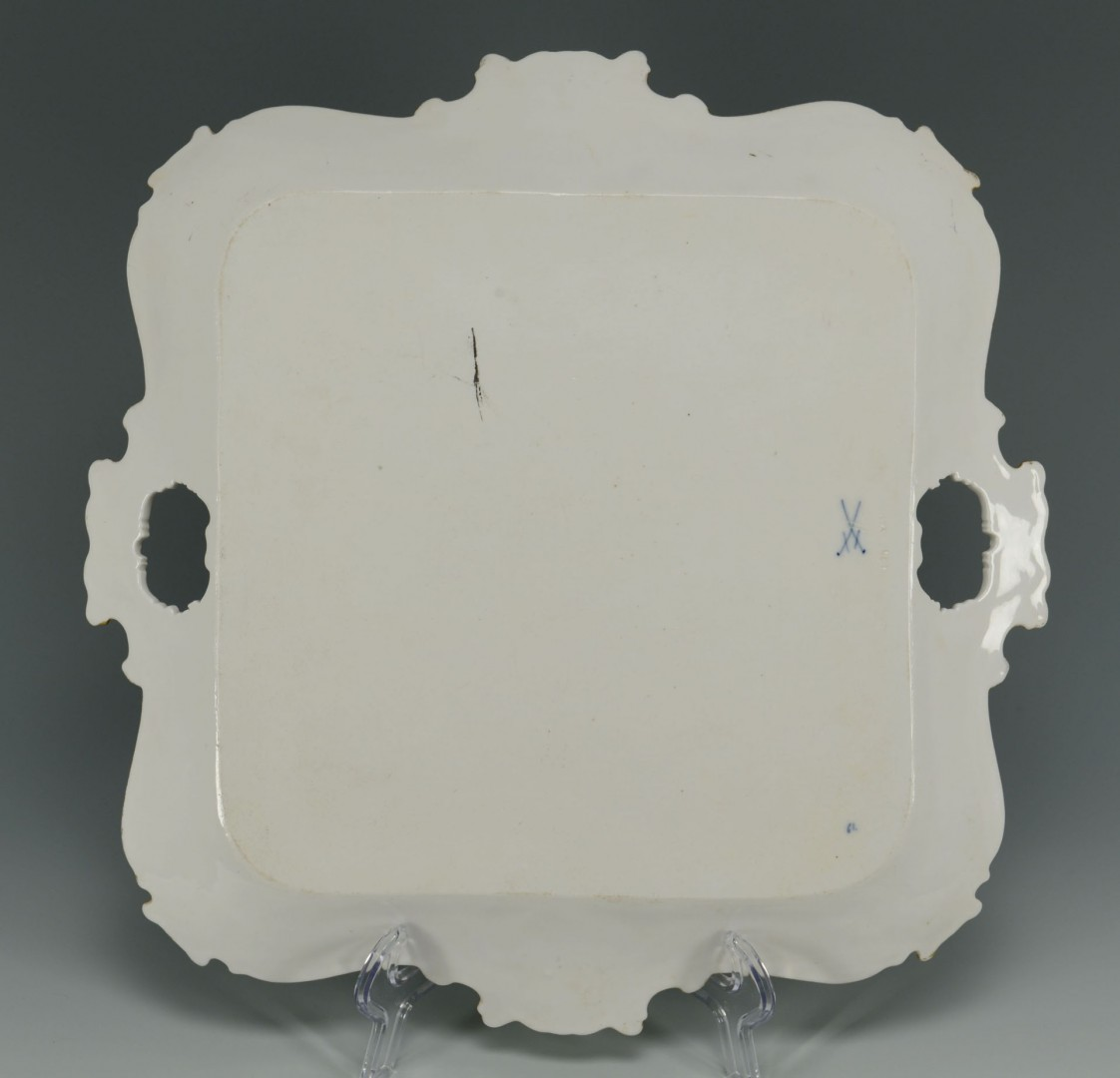 Lot 629: Square Meissen Porcelain Platter