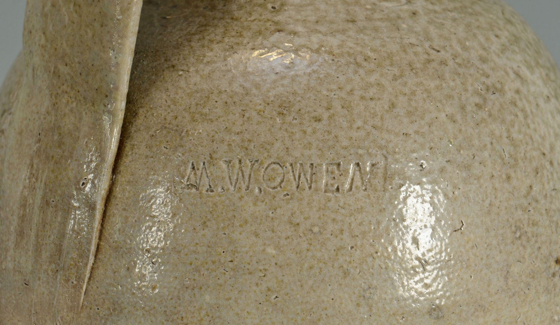 Lot 62: NC MW Owen Stoneware Pottery Jug