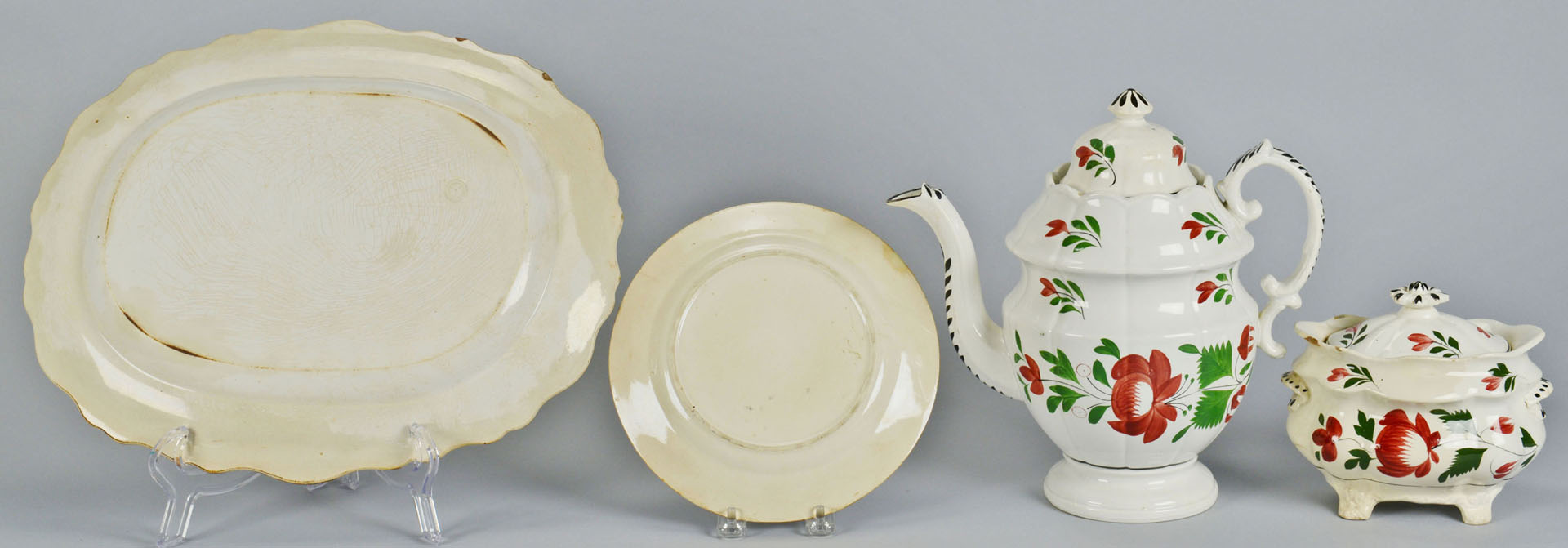 11 pcs of Adams Rose Ironstone Pottery, Other