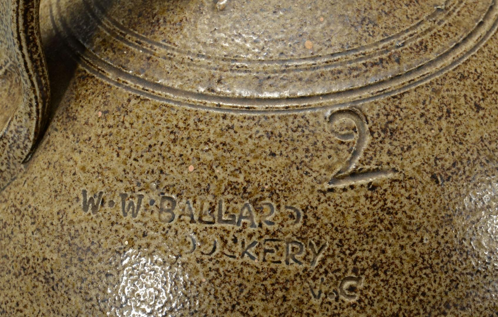 Lot 63: NC 2 Gallon Jug W.W. Ballard