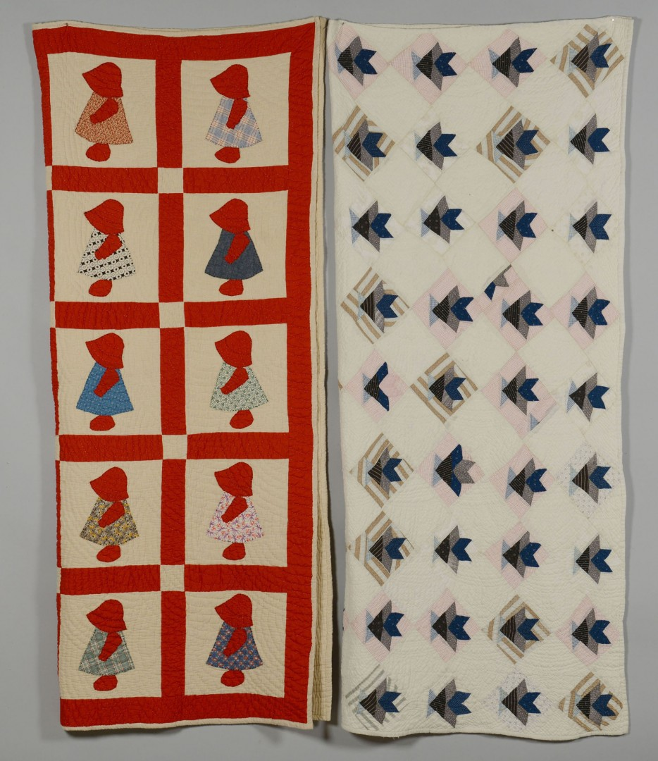 Lot 648: 2 Southern Quilts, Tulip and Dutch Girl patterns