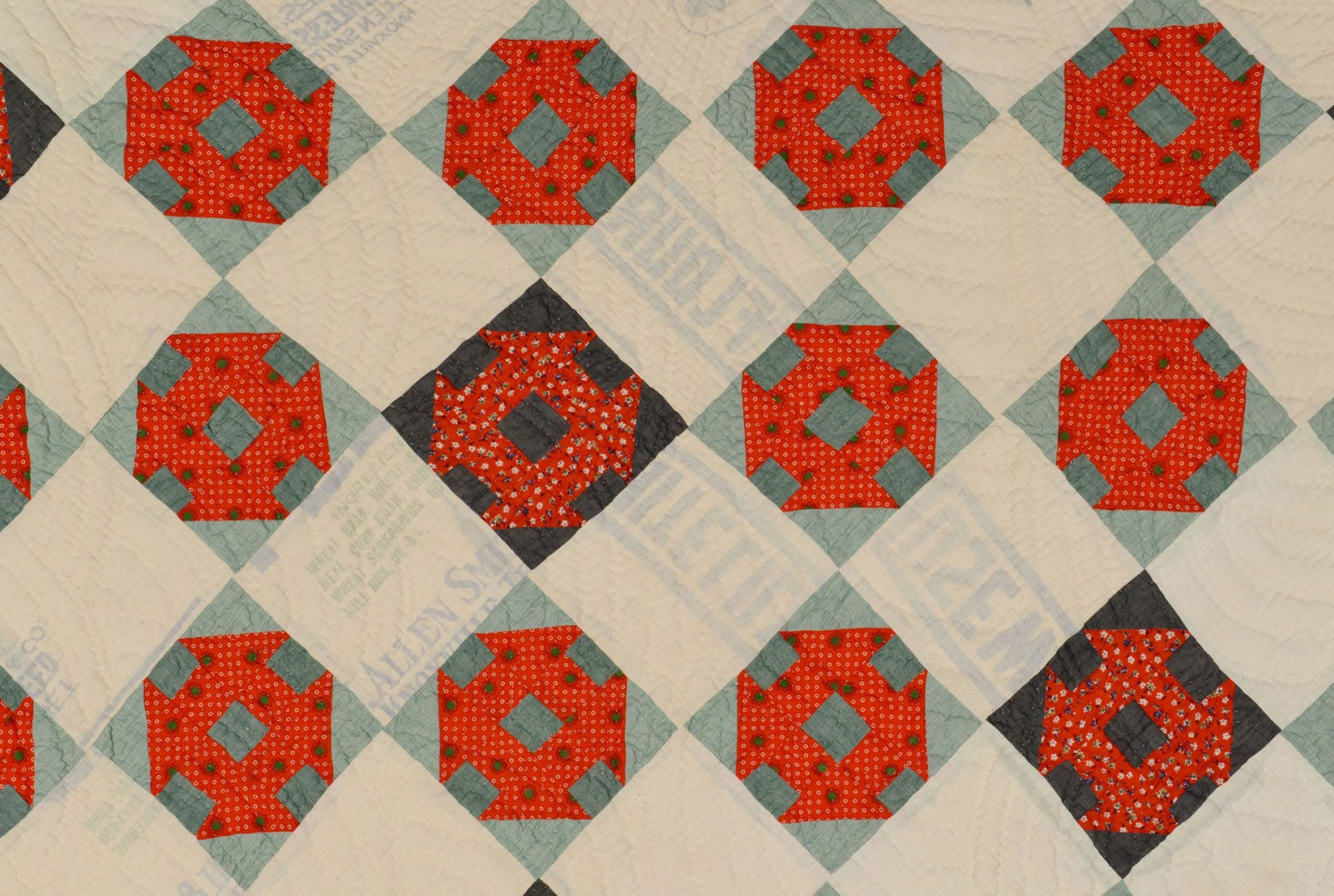 Lot 649: TN quilt w/ Knoxville feed sack ground