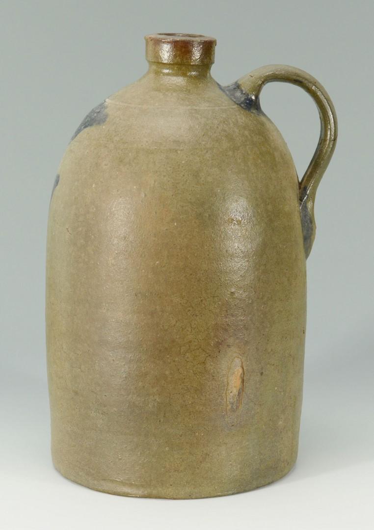 Lot 64: East TN Stoneware jug, attr. to Charles Decker