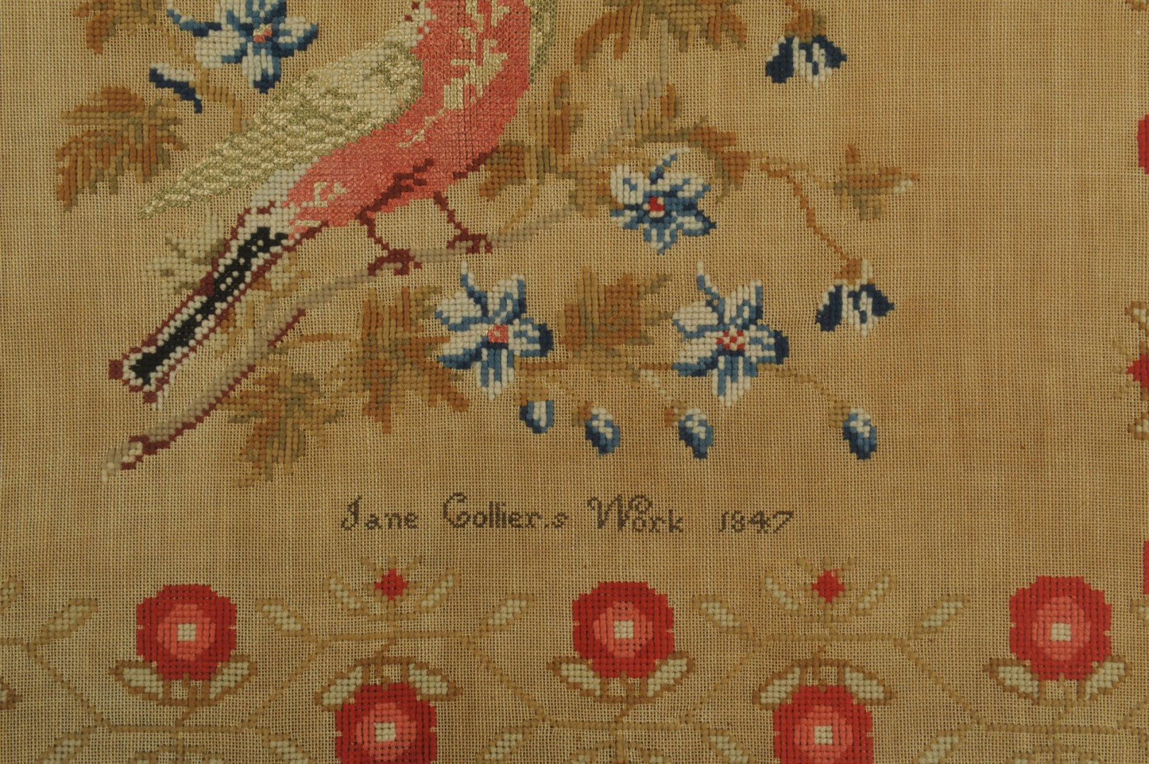 English needlework sampler, Jane Collier