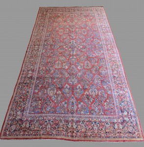 Lot 656: Semi-Antique Persian Sarouk Carpet