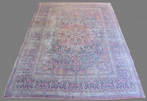 "Lot 657: Antique Lavar Kerman Carpet, 14'6"" x 10'"