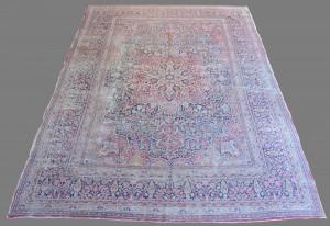 """Lot 657: Antique Lavar Kerman Carpet, 14'6"""" x 10'"""