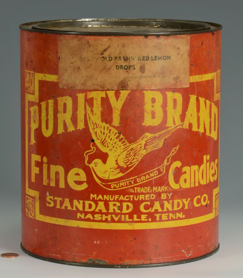 Lot 663: A Nashville, TN Purity Brand Advertising Candy Tin
