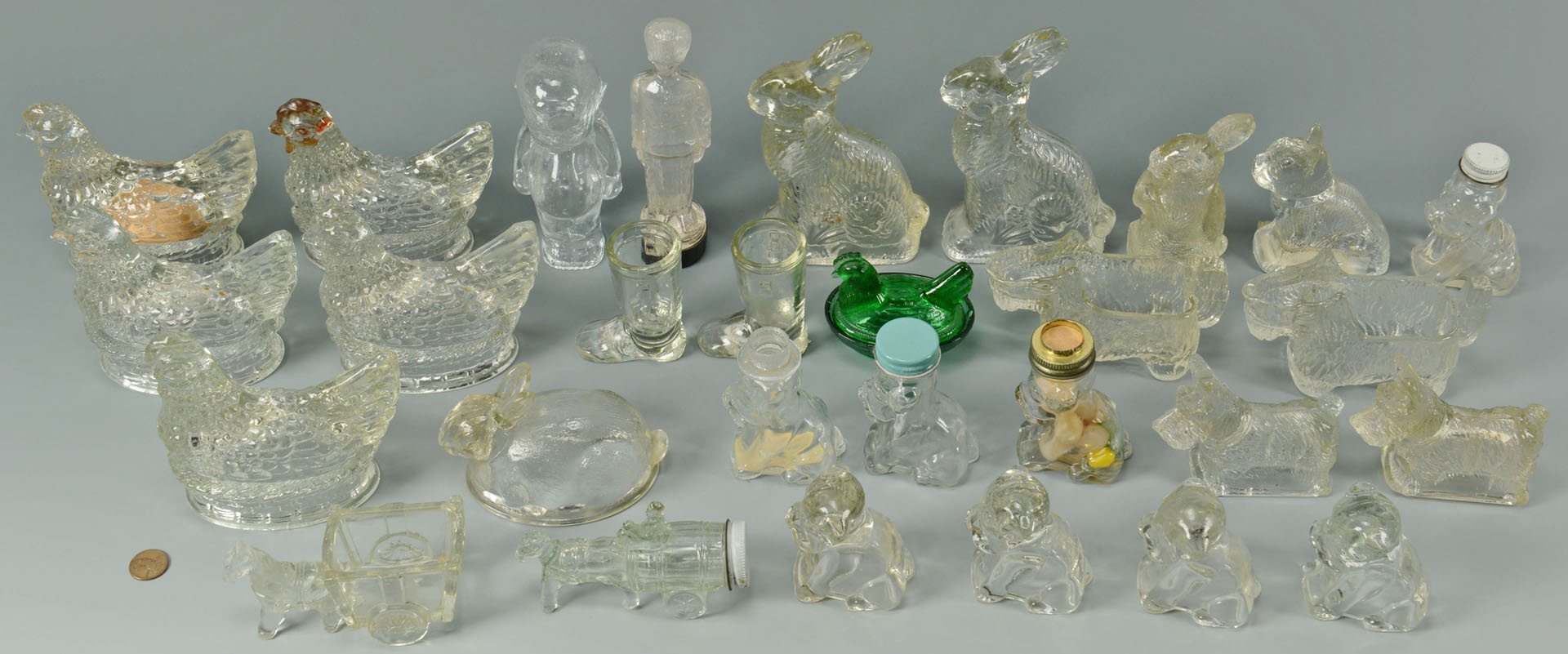 29 American Glass Candy Containers