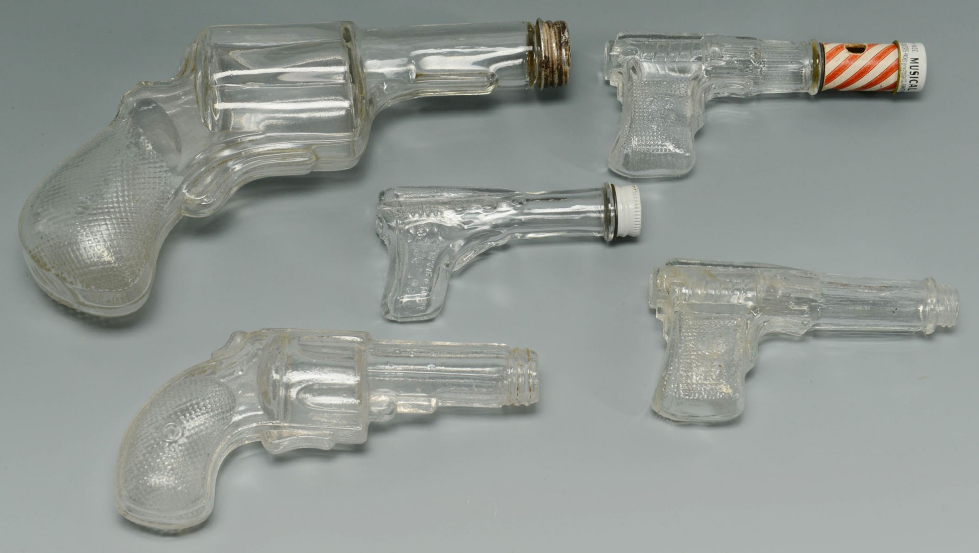Lot 666: 32 American Glass Candy Containers