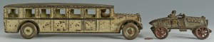 Lot 669: Two cast iron vehicles, Fageol & other