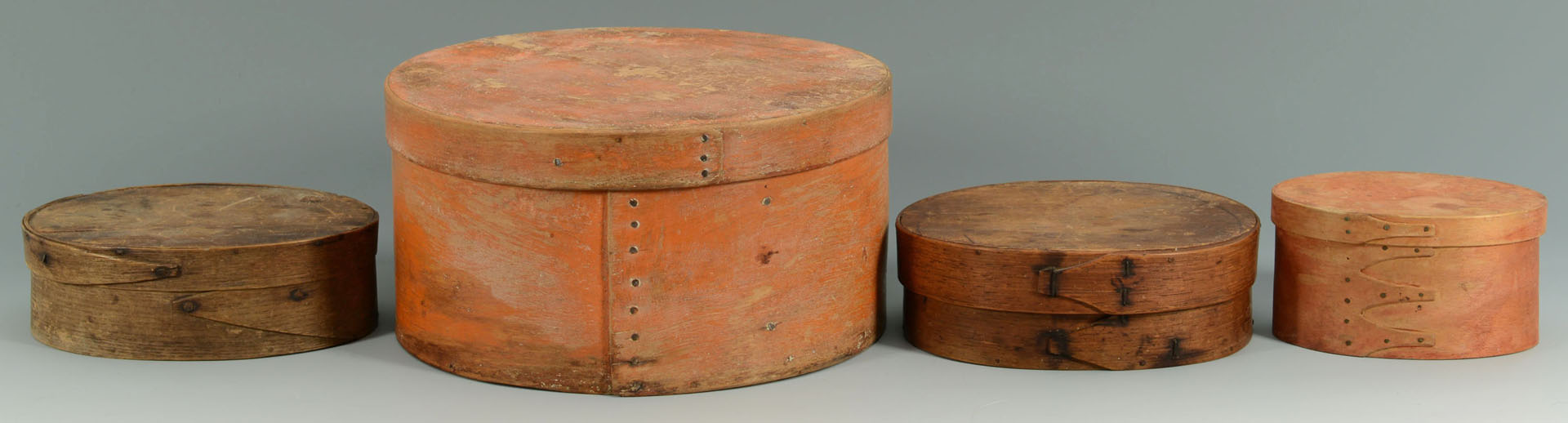 Lot 66: Grouping of 4 boxes, some Shaker painted