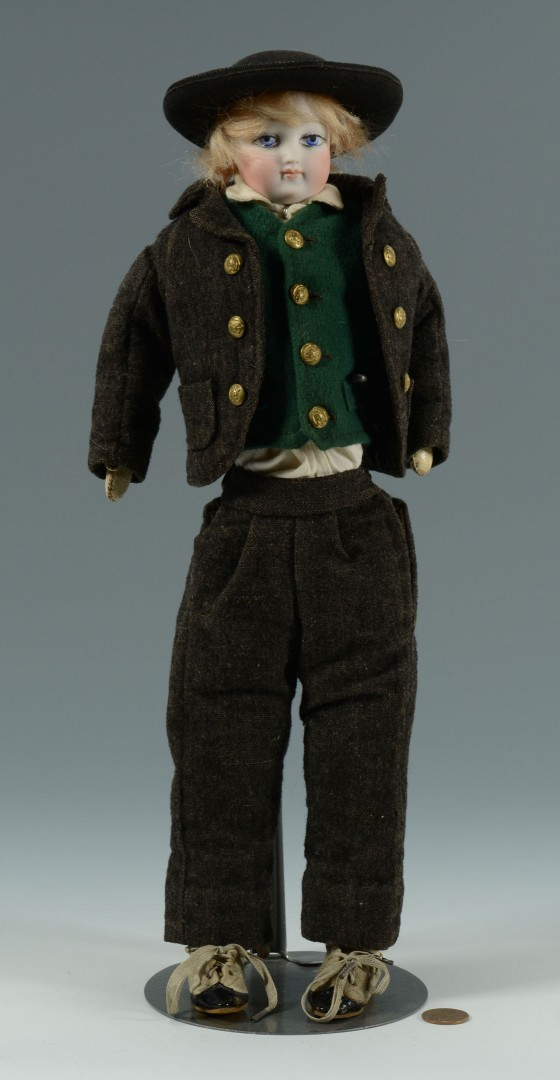 Rare French Fashion Gentleman Doll, labeled clothe