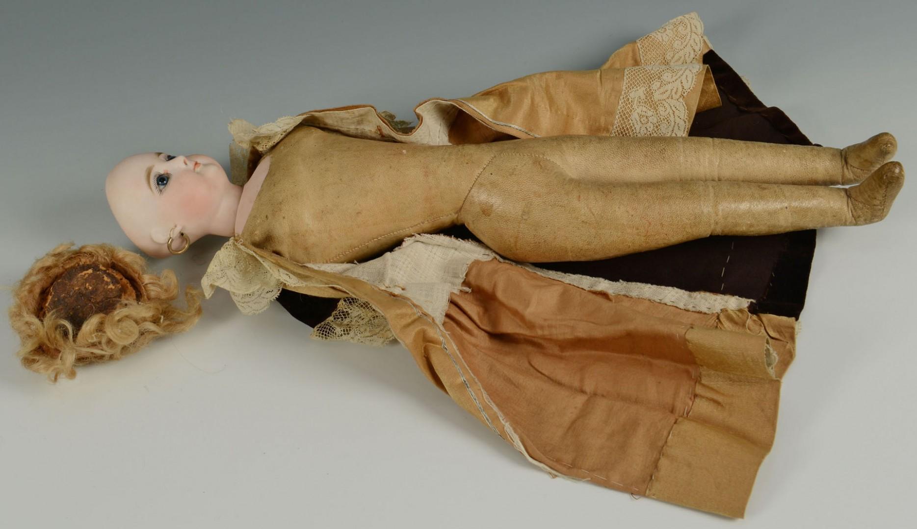 "Lot 673: Early 17"" French Fashion Doll, possibly Bru"