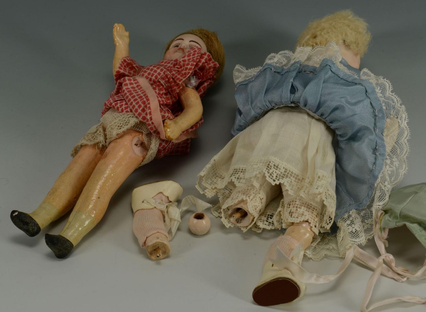 Lot 676: 3 Small French Dolls inc. SFBJ, Verligue