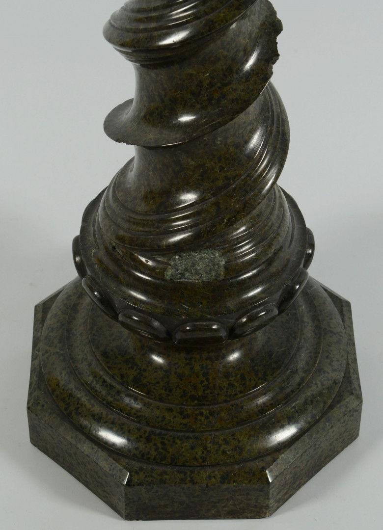 Lot 682: Green Marble Display Pedestal