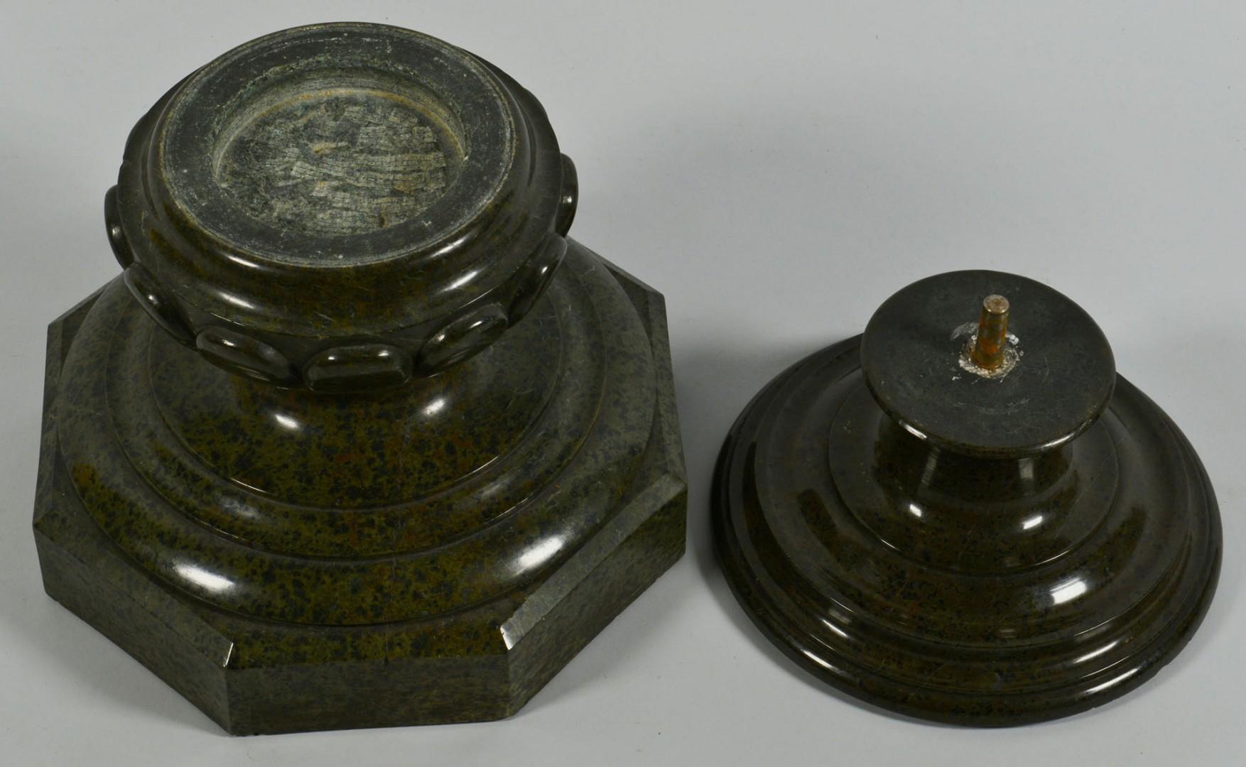 Lot 682: Green Marble Display Pedestal