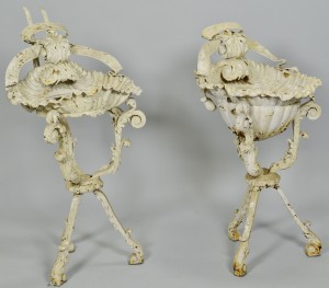 Lot 684: Pair Victorian Plant Stands