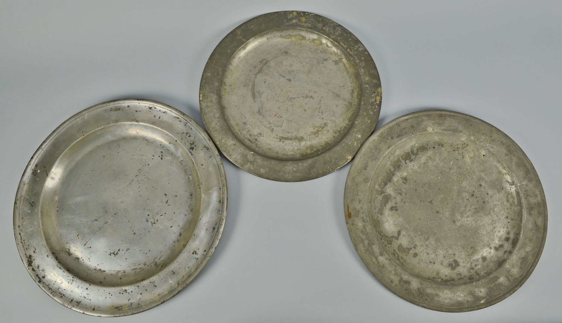 Grouping of Pewter Domes, Chargers, Plates