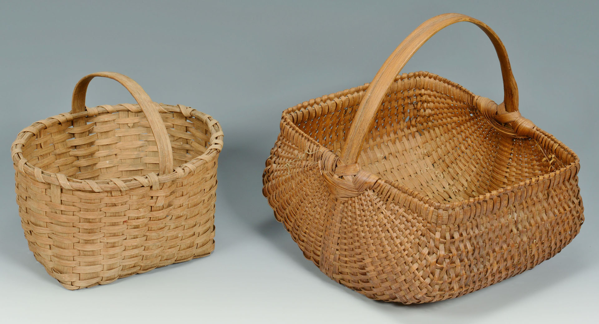 Lot 688: Group of 6 various split oak baskets