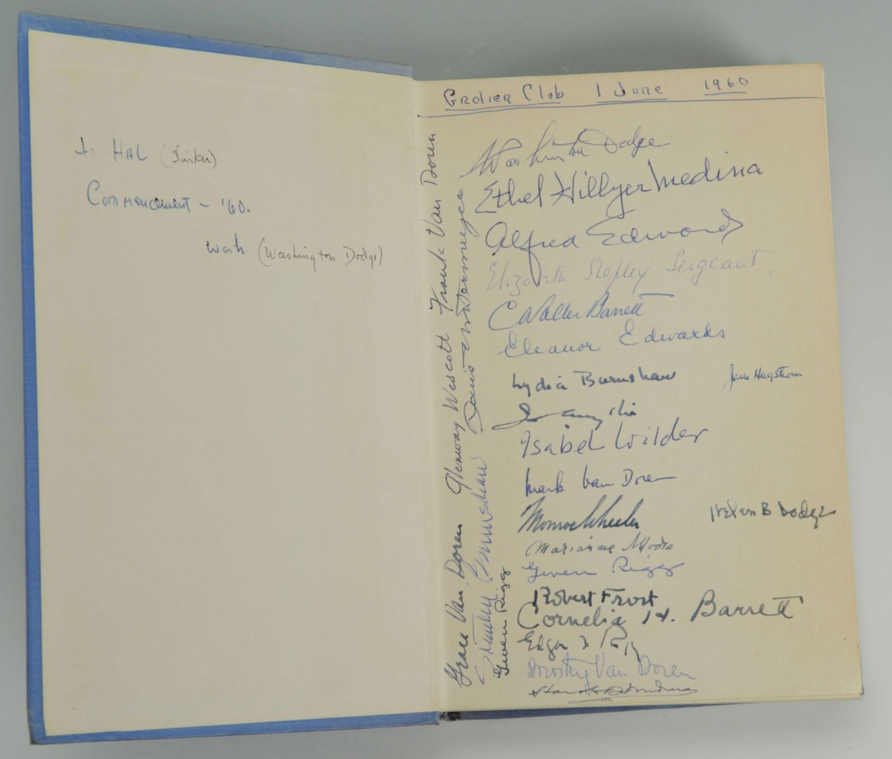 Lot 690: Signed Robert Frost Biography, The Trial By Existe